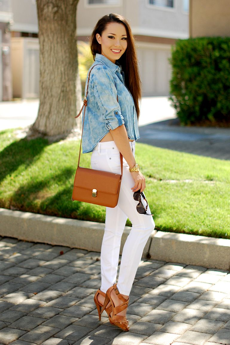 chambray shirt | she's insanely gorgeous