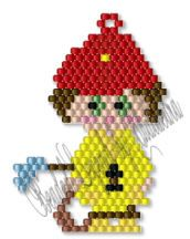 Little Fireman Charm/Ornament by Charlotte Holley - Beaded Legends by Chalaedra