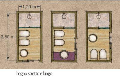 Bagno stretto e lungo idee patchwork pinterest bagno stretto bagno e bagni - Bagno in camera dimensioni minime ...
