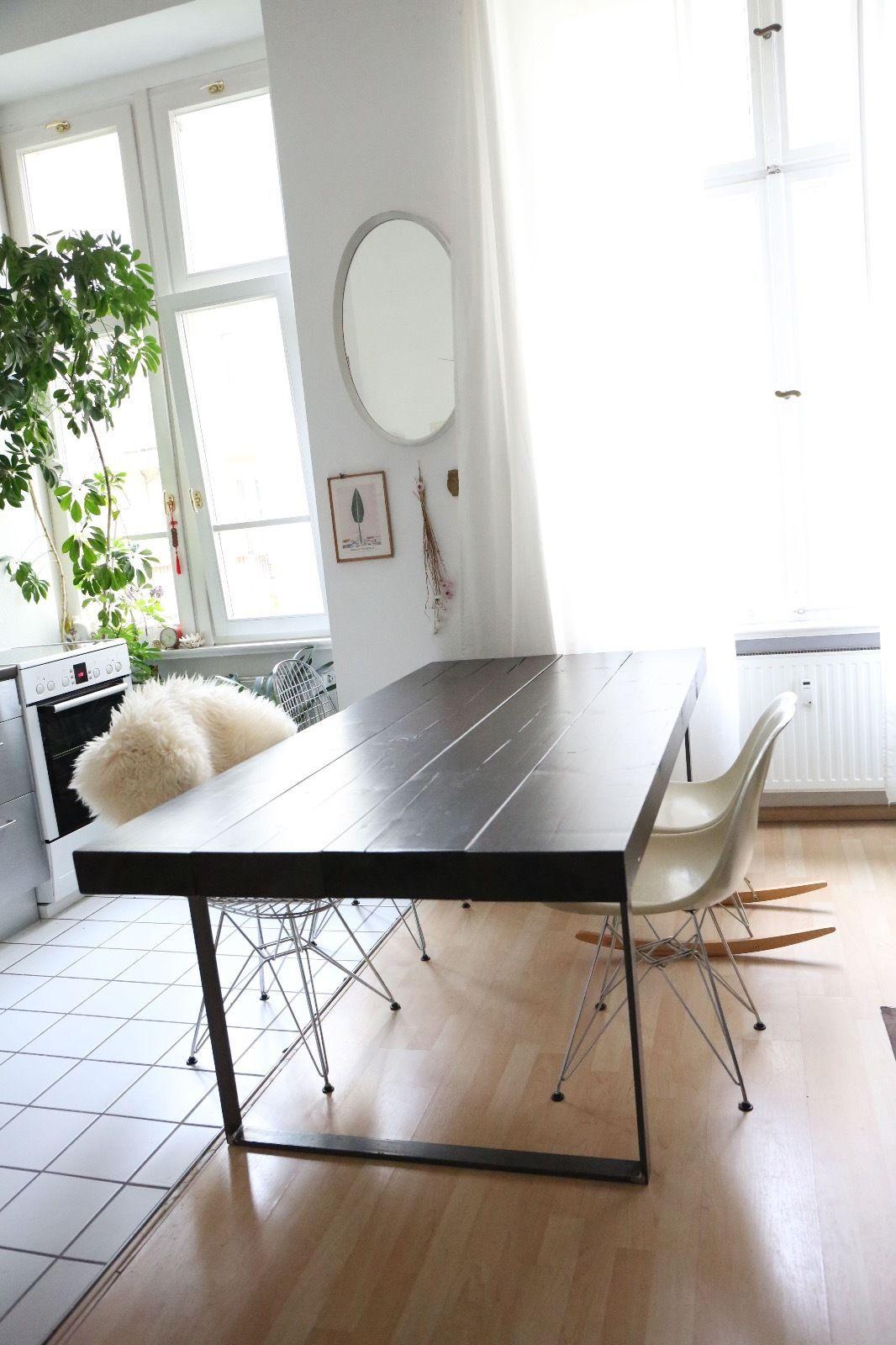 Designer Wohnen designer esstisch arbeit industriedesign massivholz dänisch eames