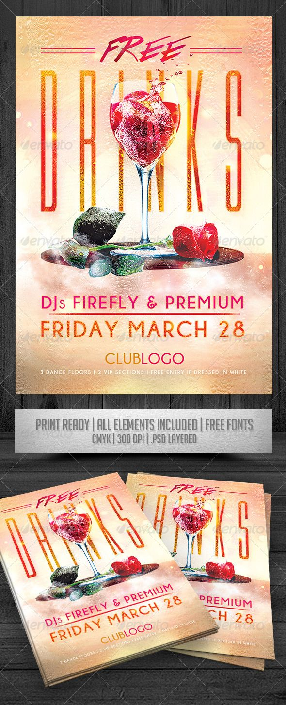 Free Drinks Flyer #graphicriver | Advertising/Graphic Design