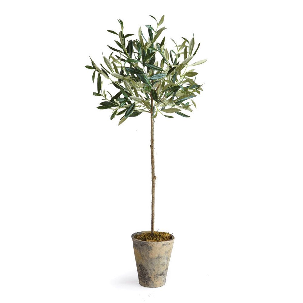 Olive Tree In Round Ceramic Pot Potted Trees Faux Olive Tree