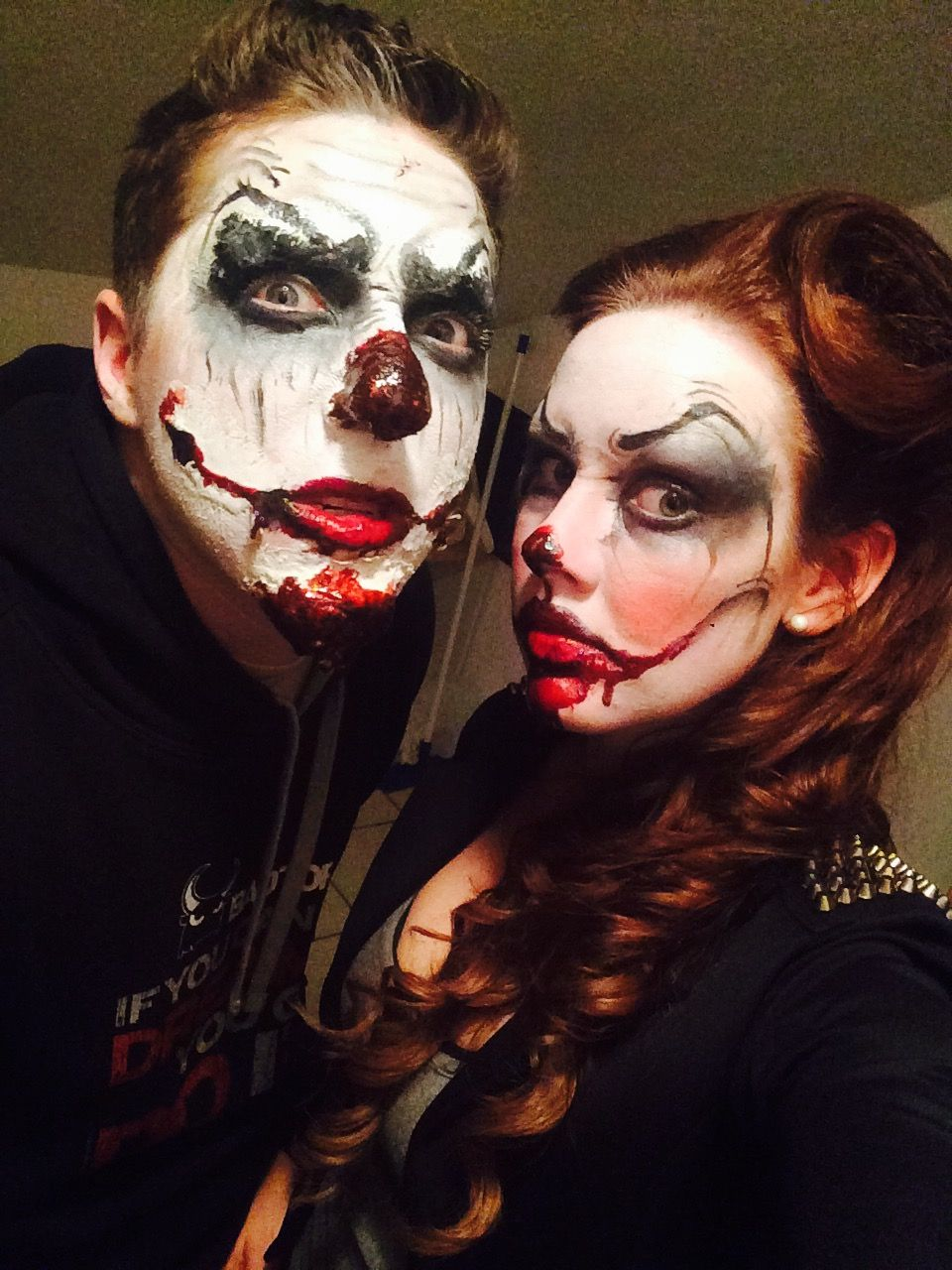 halloween scary makeup clown couple | cool beans | pinterest