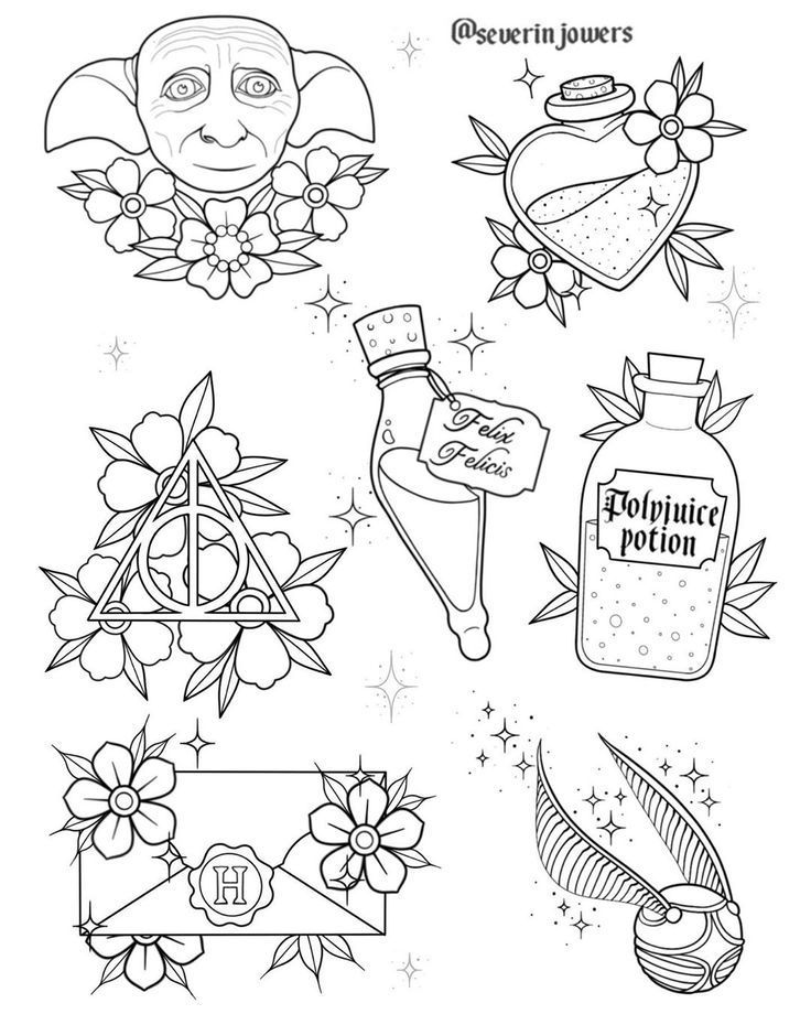 Harry potter tattoo flash #harry #potter #tattoo #flash , harry potter tätowie... - anni