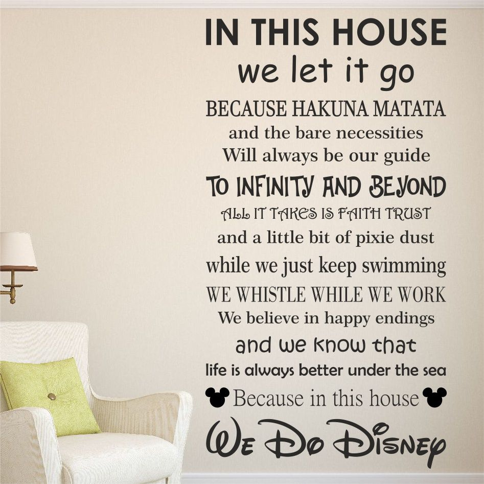 Amazing We Do Disney Wall Sticker Made Up Of Disney Sayings - Vinyl wall decals application instructions