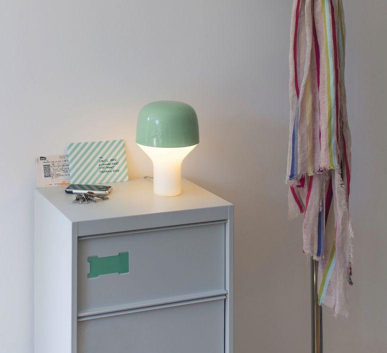 Lampe A Poser Cap Vert Clair H23cm O16cm Teo Lampe De Chevet Design Lampes Contemporaines Plan Maison Contemporaine