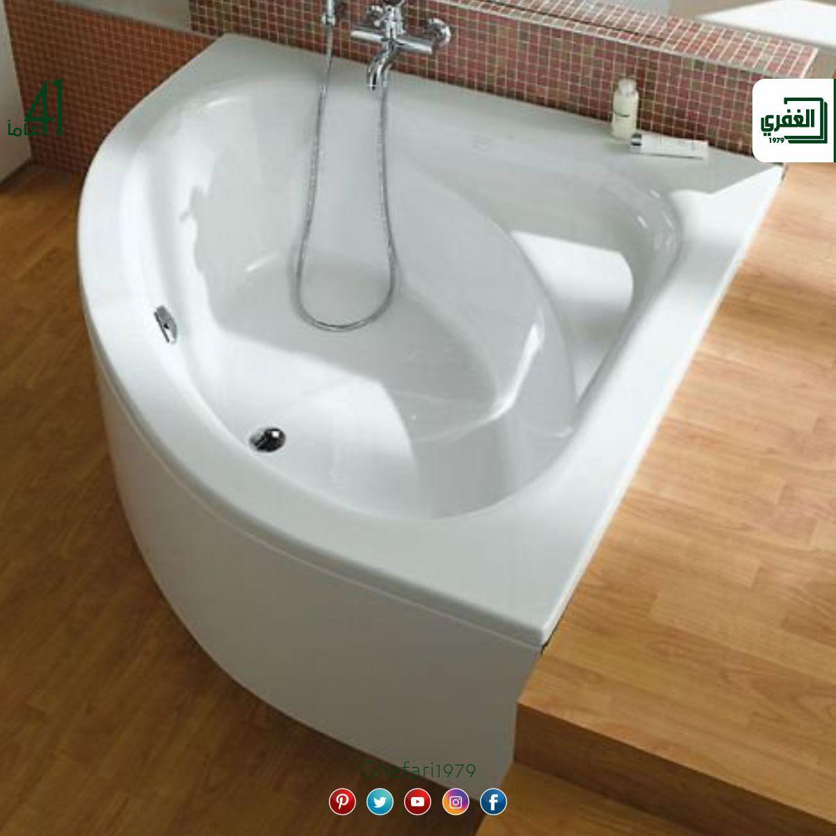 من شركة Vitra Turkiye بانيو زاوية اكريليك متوفر مقاسات 140x140 Cm متوفر اللون الابيض 130x130 Cm متوفر اللون البيج للمز Bathtub Instagram Posts Bathroom
