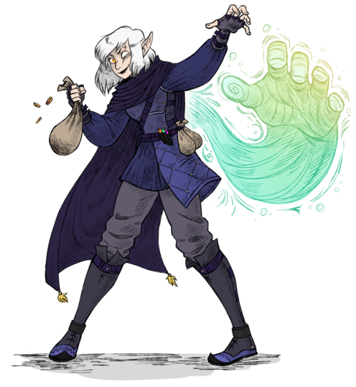 another d&d commission - this time an arcane trickster ...