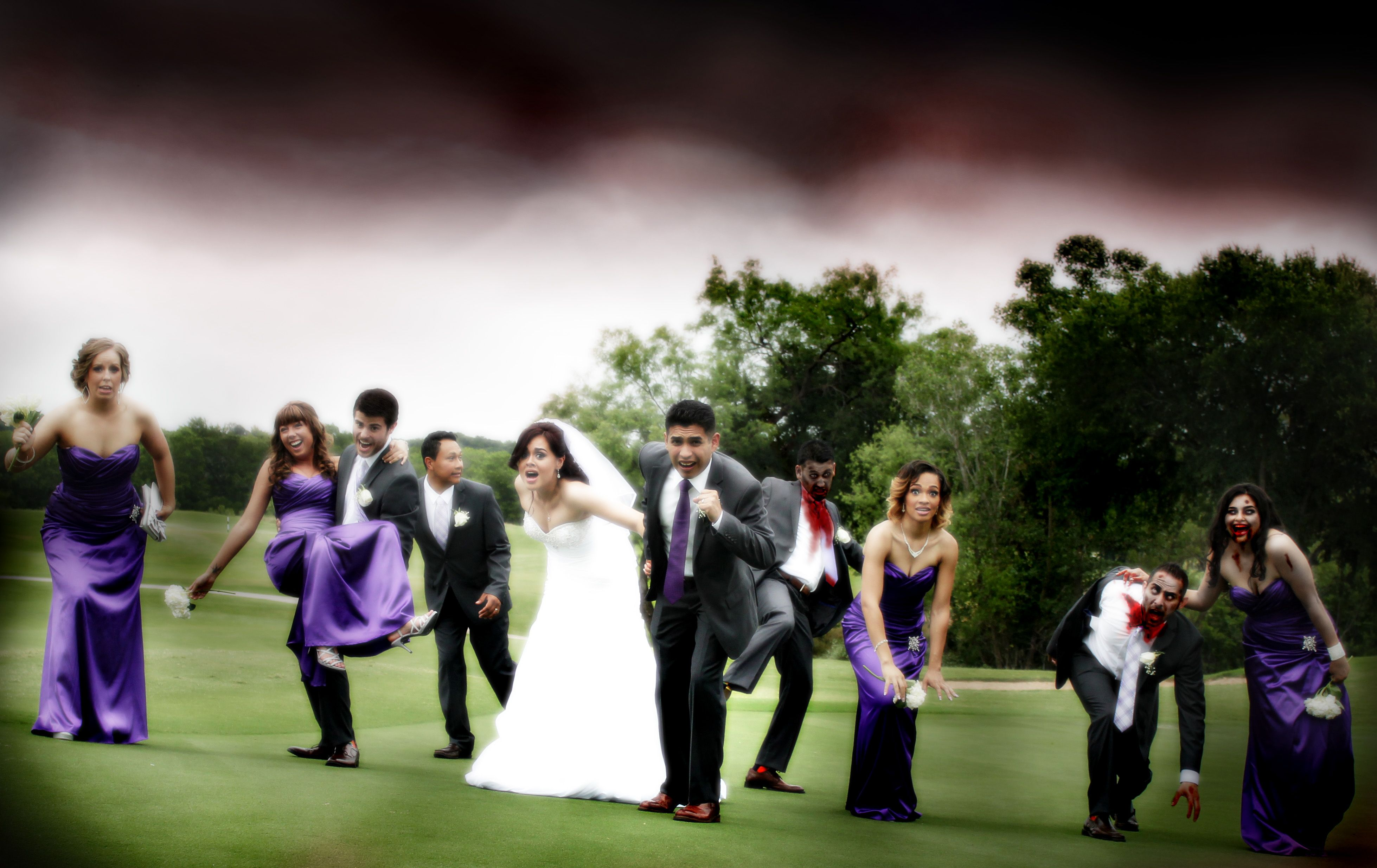 Zombie Wedding Party Cathy S Photography Pinterest
