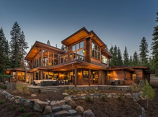 Truckee California Luxury Log Home Mountain House Plans Rustic Houses Exterior Rustic House