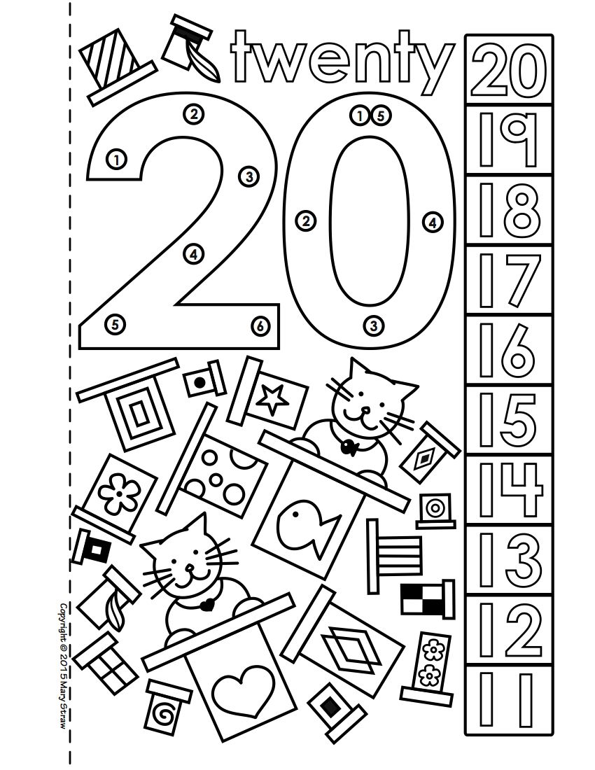 Dot-to-Dot Number Book Bundle 1-20 Activity Coloring Pages | Best of ...