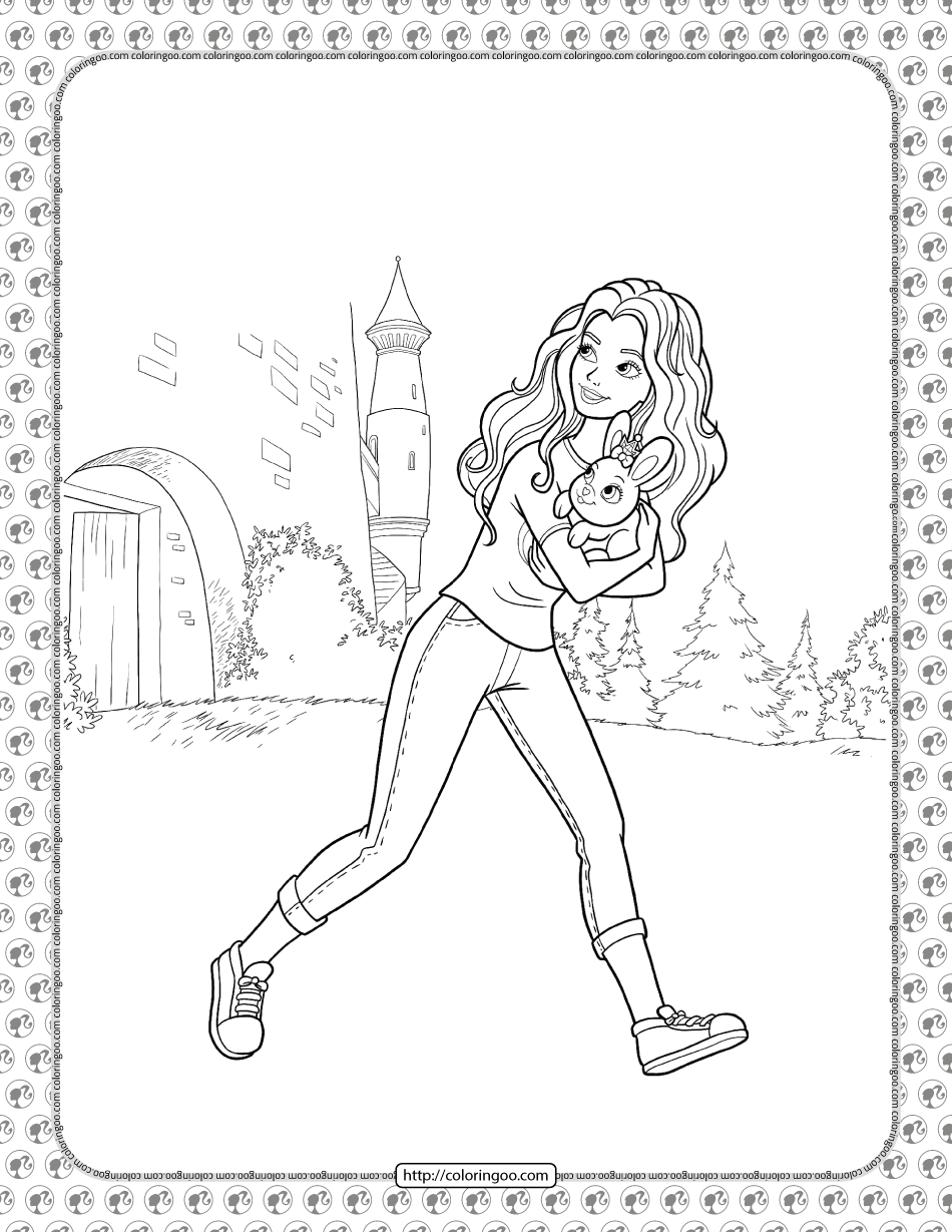 Barbie Princess Adventure Coloring Pages 14 In 2021 Princess Adventure Coloring Pages Barbie Princess