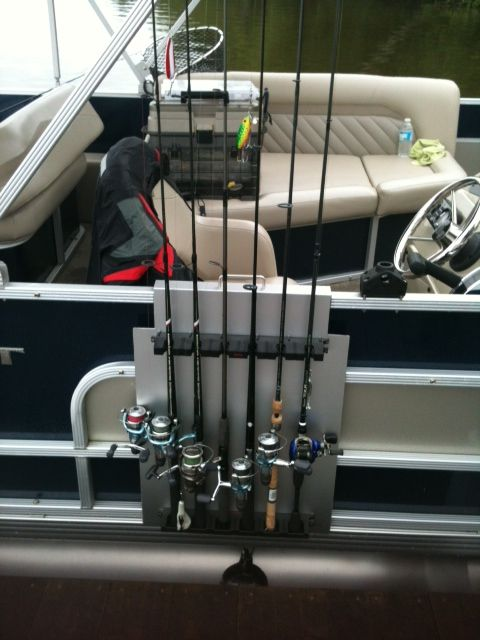 Fishing Rod Holder Pontoon Boat Railing By Stubb111