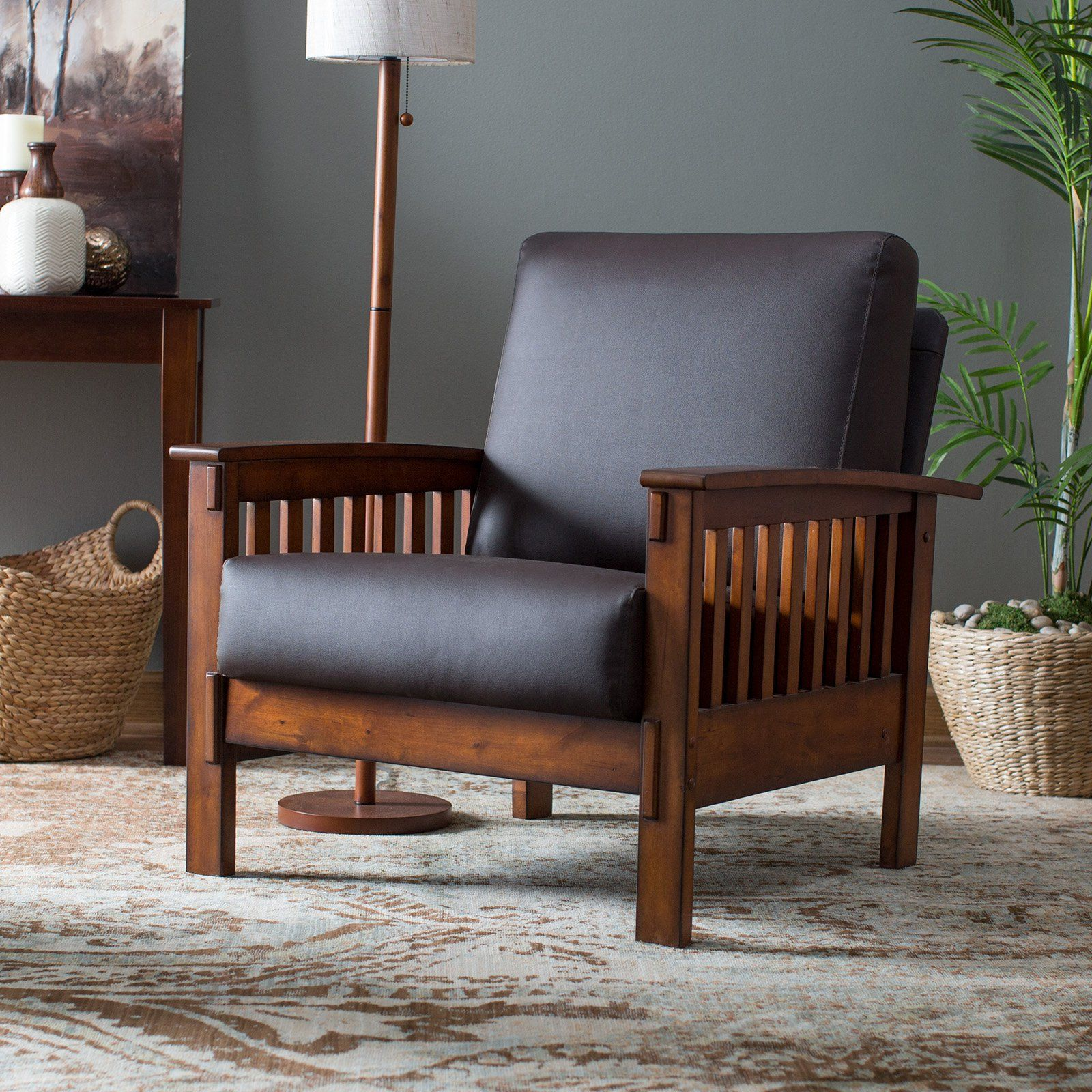 ... Arm Chair   With Its Slatted Sides And Flat Armrests, The Belham Living  Burton Mission Arm Chair Was Clearly Inspired By Classic Craftsman Furniture .