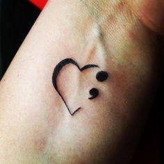 Traditional Semicolon Tattoo Design On Hand For Girls #Tattoosonneck