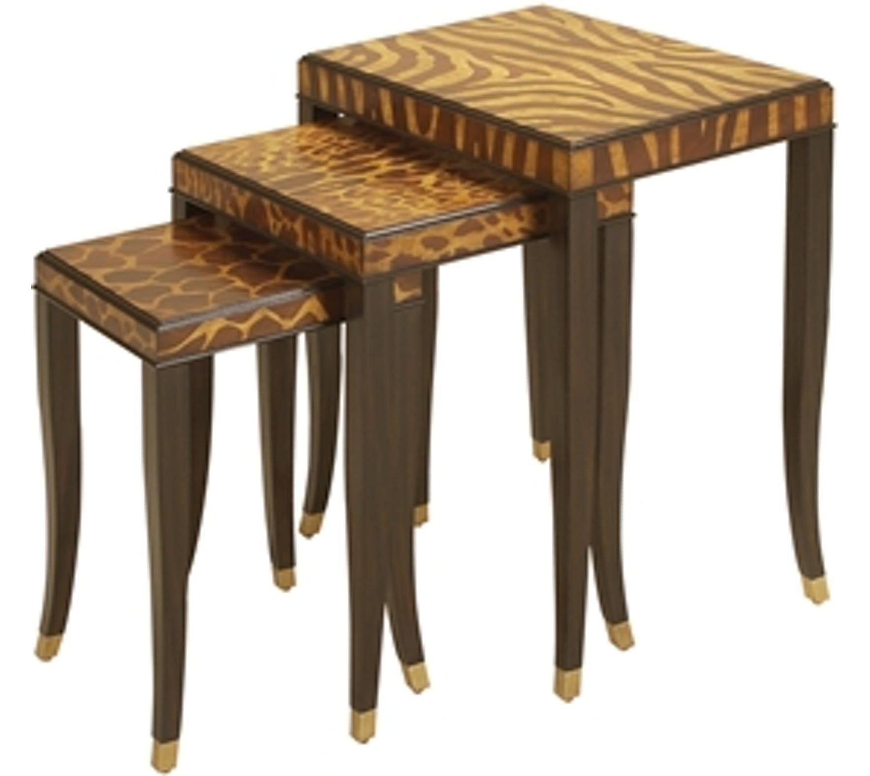 set of three ebony finishes nesting tables by maitland on exclusive modern nesting end tables design ideas very functional furnishings id=12916