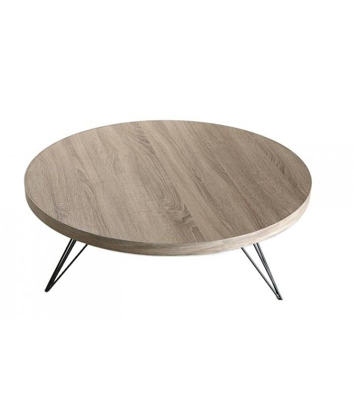Table Basse Design Ronde En Bois Et Metal Noir Seattle Table Basse Design Table Basse Table Basse Ronde
