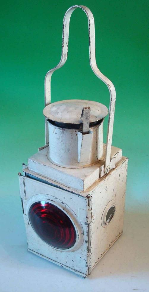 British Railways Train Paraffin Lamp White Coloured Body Rail Transport Railway British Rail