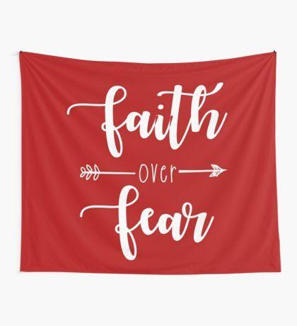 Faith Over Fear Wall Tapestry