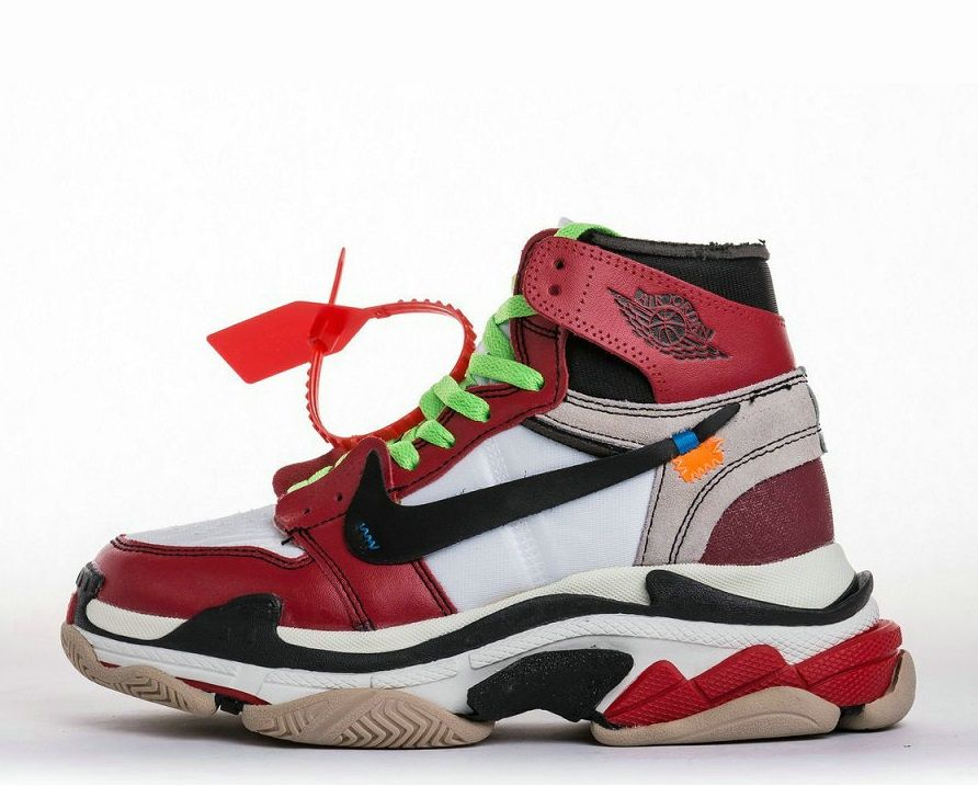 c9b6612fd48c3 Off-White x Nike Air Jordan 1 x Balenciaga Triple S Custom Sneakers ...