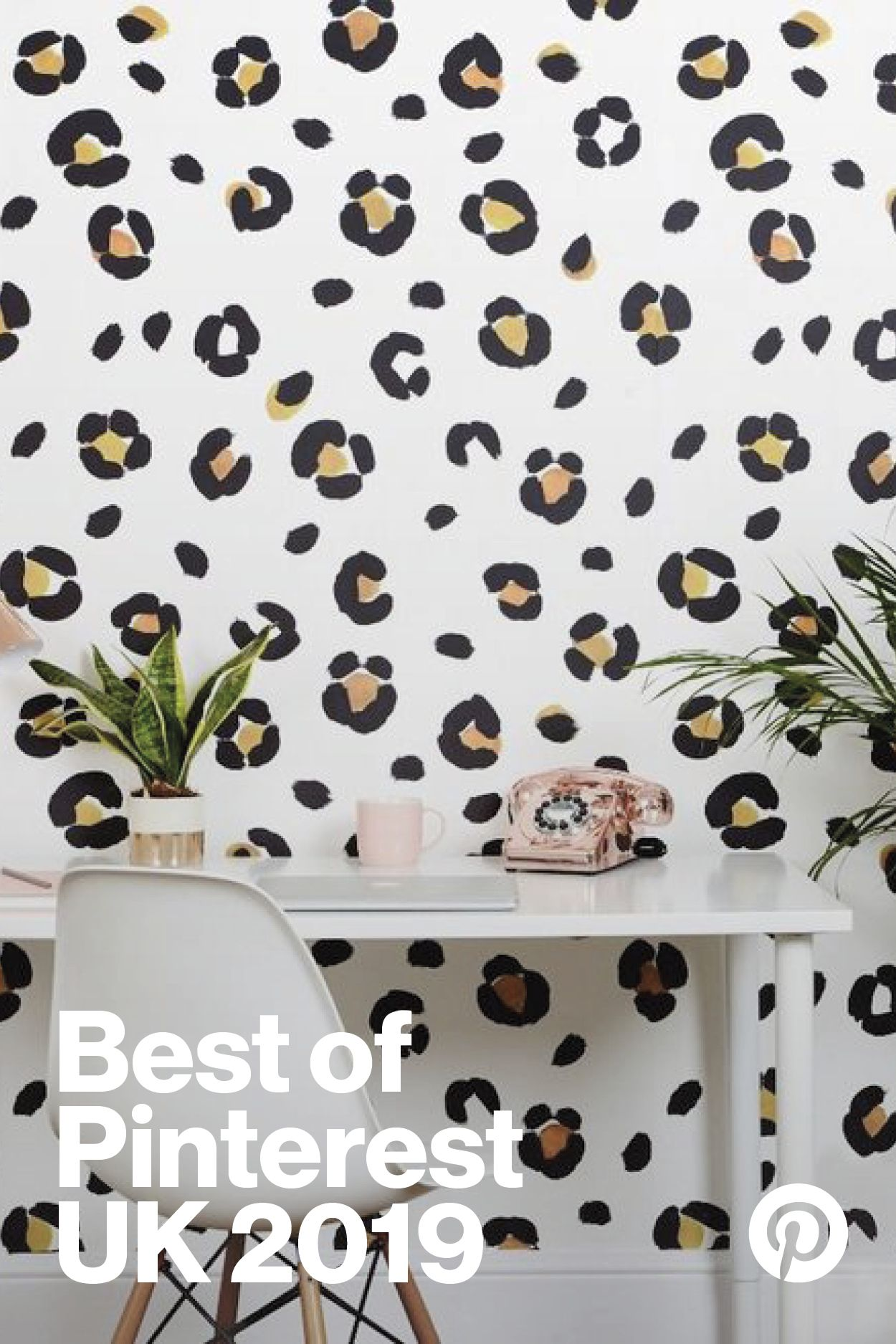 Leopard Print Splodge Wallpaper - Tan  Leopard print wallpaper