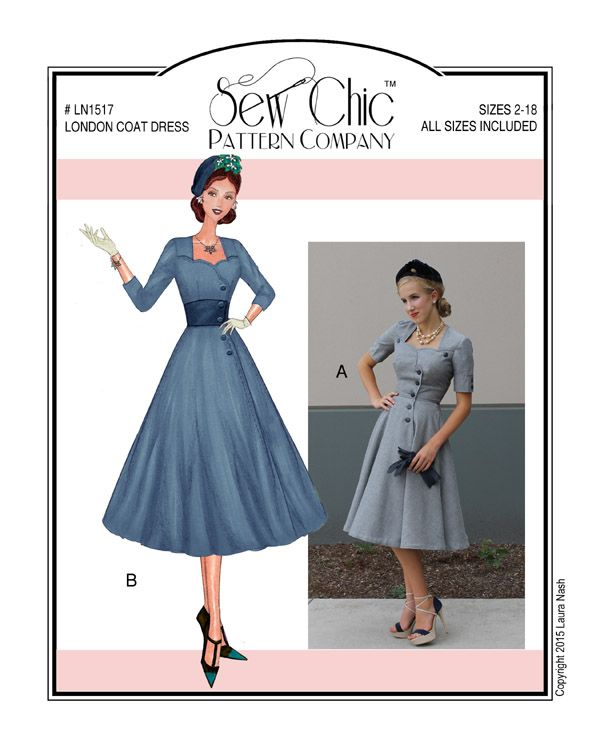 London coat Dress--Sew Chic patterns   Kleider nähen   Pinterest ...