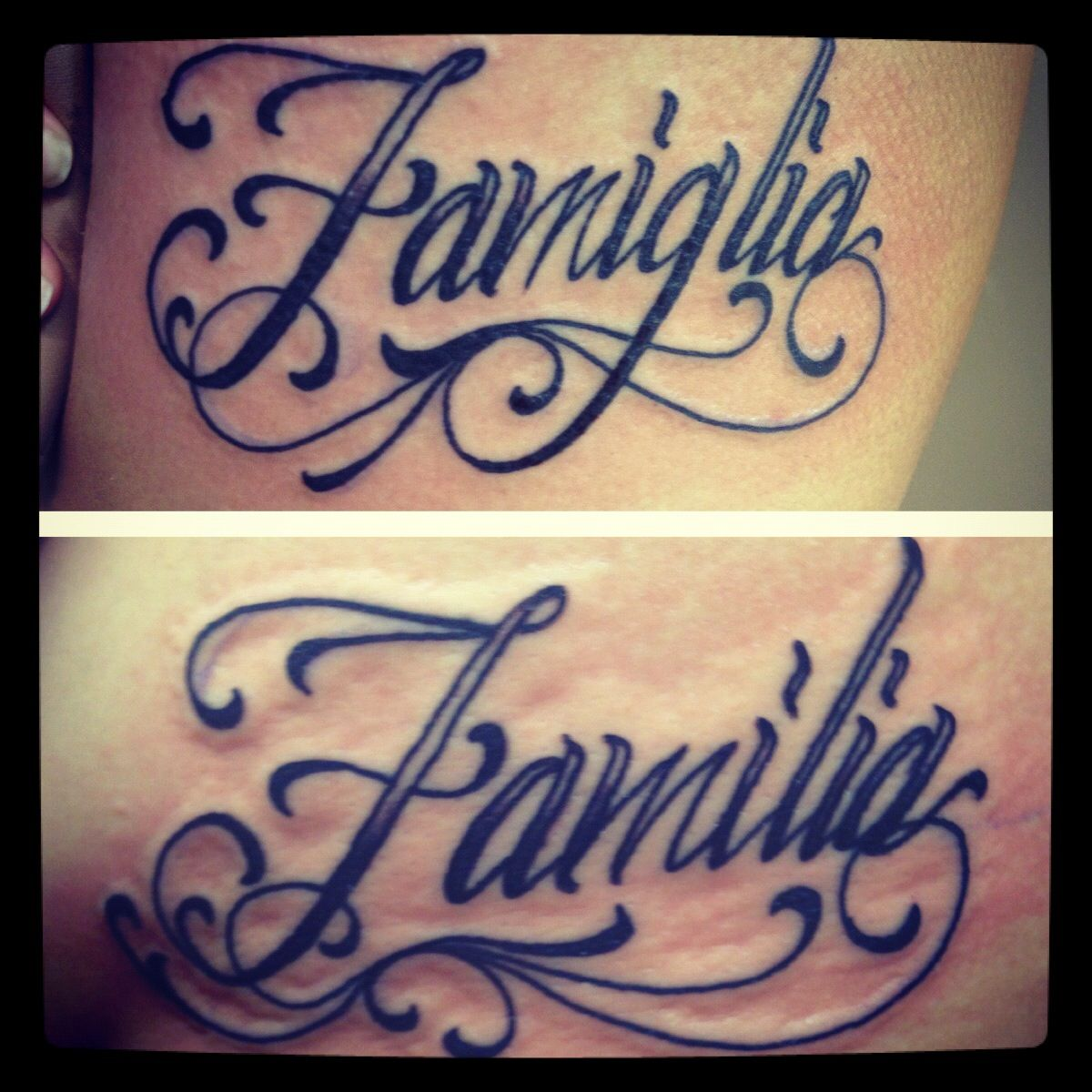 Me and my sister got matching tattoos symbolizing family for Tattoo in spanish