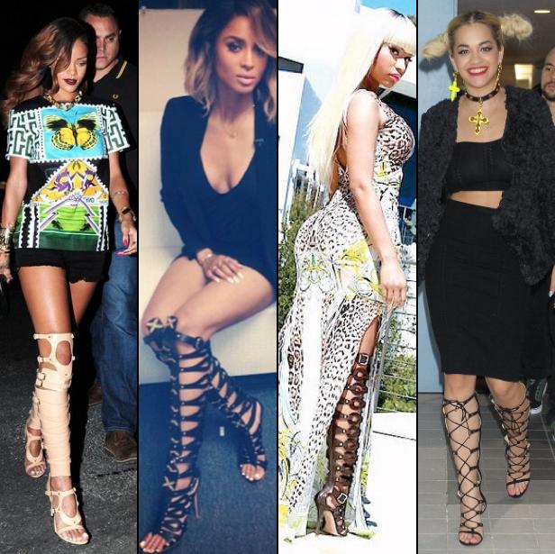 Rihanna, Ciara, Nicki Minaj and Rita Ora Gladiator Sandals | Foot ...
