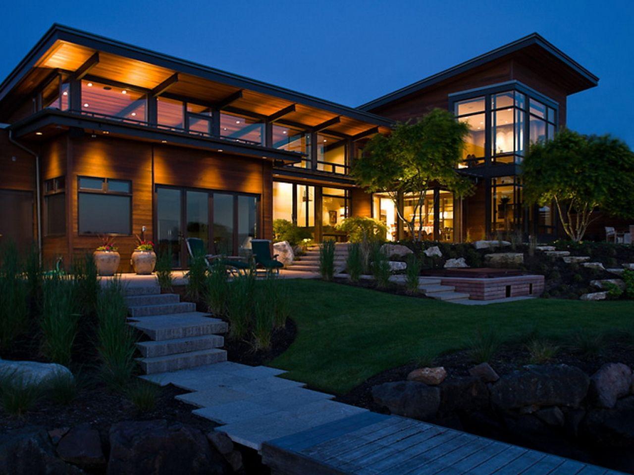 Image result for modern lake house plans Exterior Pinterest