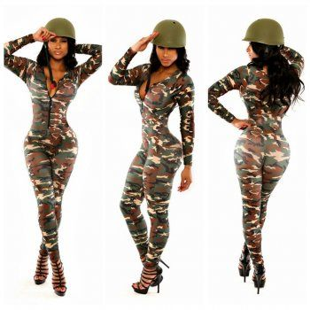 477a24fa7c1 CAMOUFLAGE PRINTING BODYCON LONG CELEBRITY BANDAGE JUMPSUIT WINTER NEW WOMEN  FASHION SEXY PARTY CLUB ROMPERS
