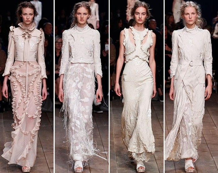 92f332e1d35 Evening dress evening dresses cocktail dresses white cream Alexander Mcqueen  spring summer collection 2016