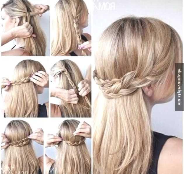 frisur mit haarband selber machen