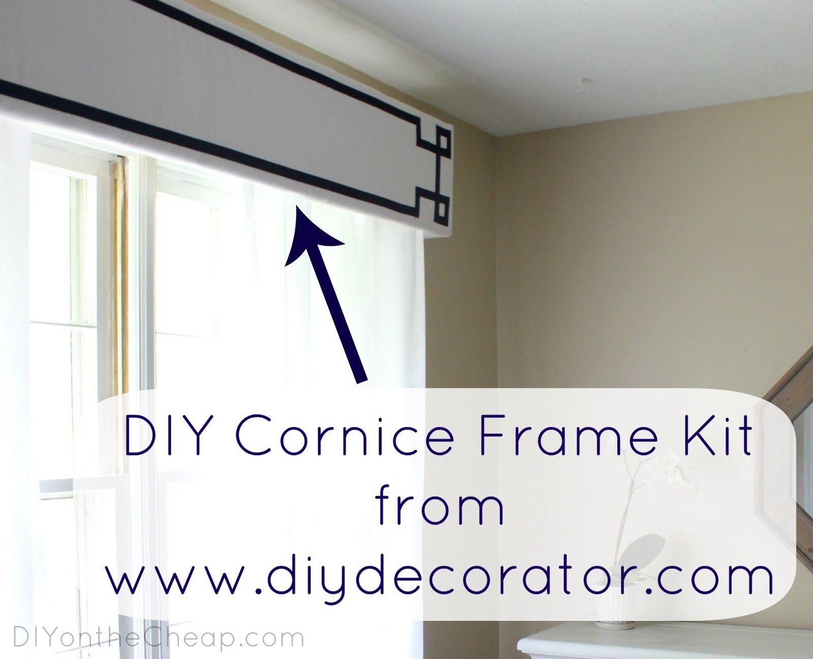 New Window Treatments Diy Cornice Frame Kit Review Diy Window
