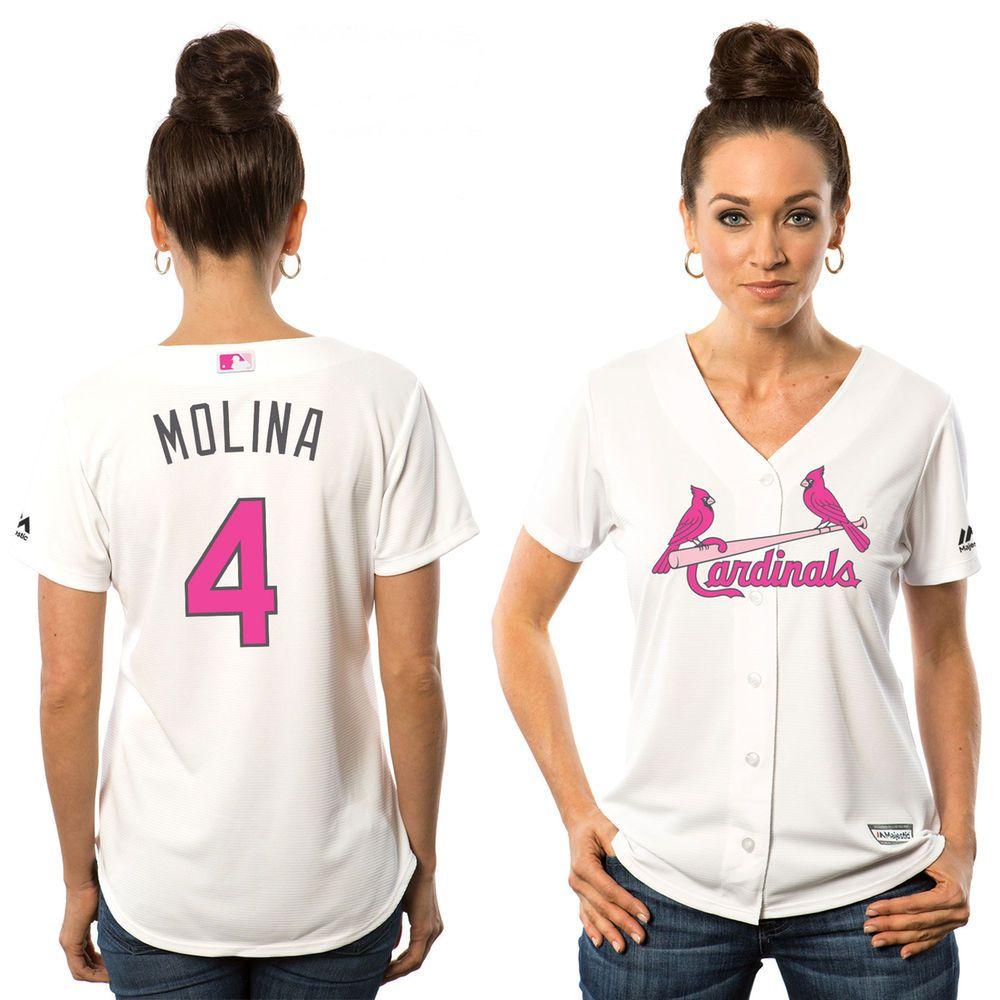 finest selection da4c3 12d3a Want!!!! Women's St. Louis Cardinals Yadier Molina Majestic ...