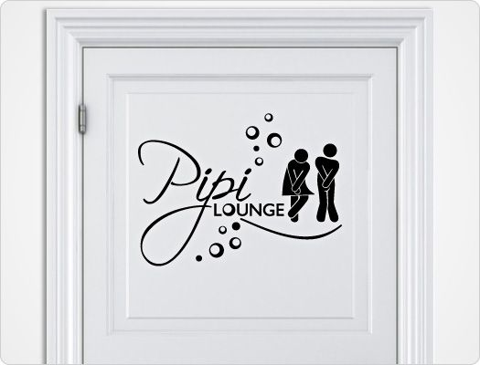 Wandtattoo Pipi Lounge (Nr2) Silhouetten Pinterest - Wandtattoos Fürs Badezimmer