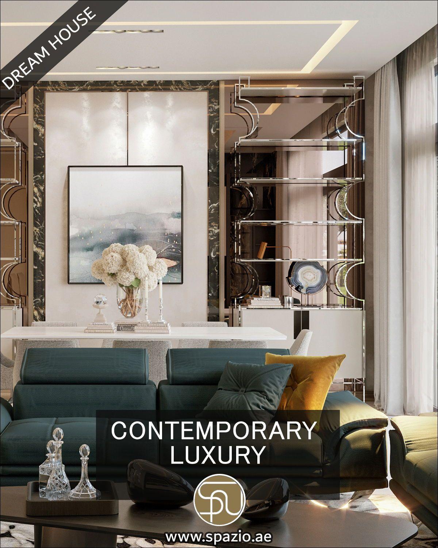 Contemporary Luxury Residential Villa Living Room Home Décor