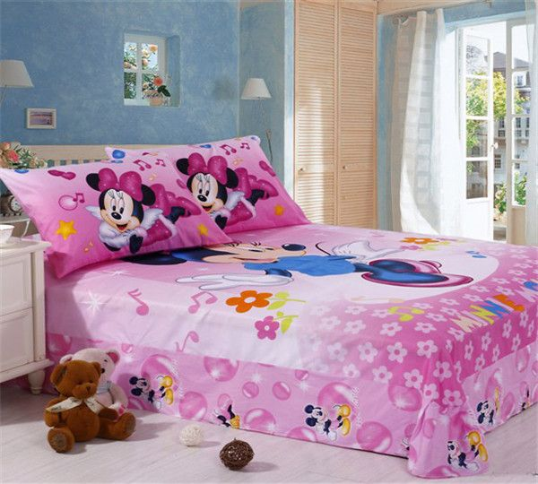 pink 100% Cotton Kids Bedding Sets 4pcs with twin size,full size or queen size from cottonbeddingset.com