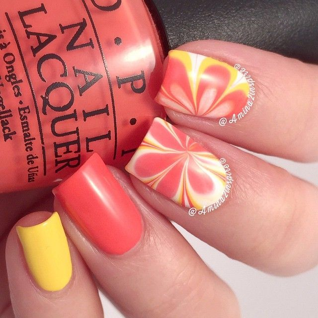 Toothpick Nail Art Designs: Pure Color #7 Watermarble Tool