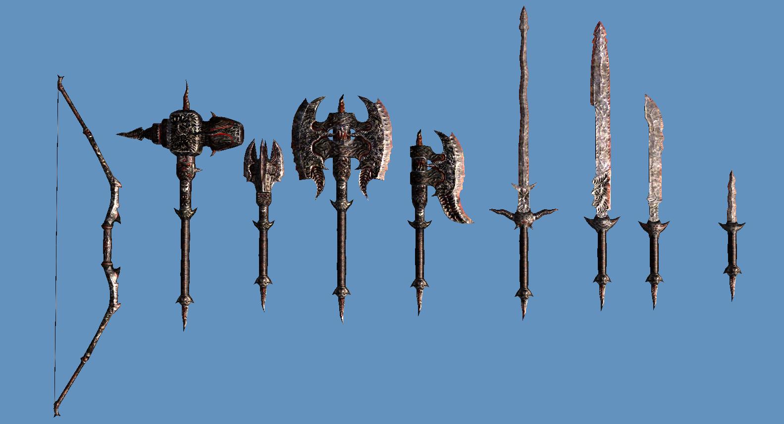 daedric weapons oblivion the elder scrolls pinterest