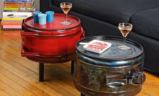 Déco Récup Des Tables Avec Des Bidons Dessence Upcycle