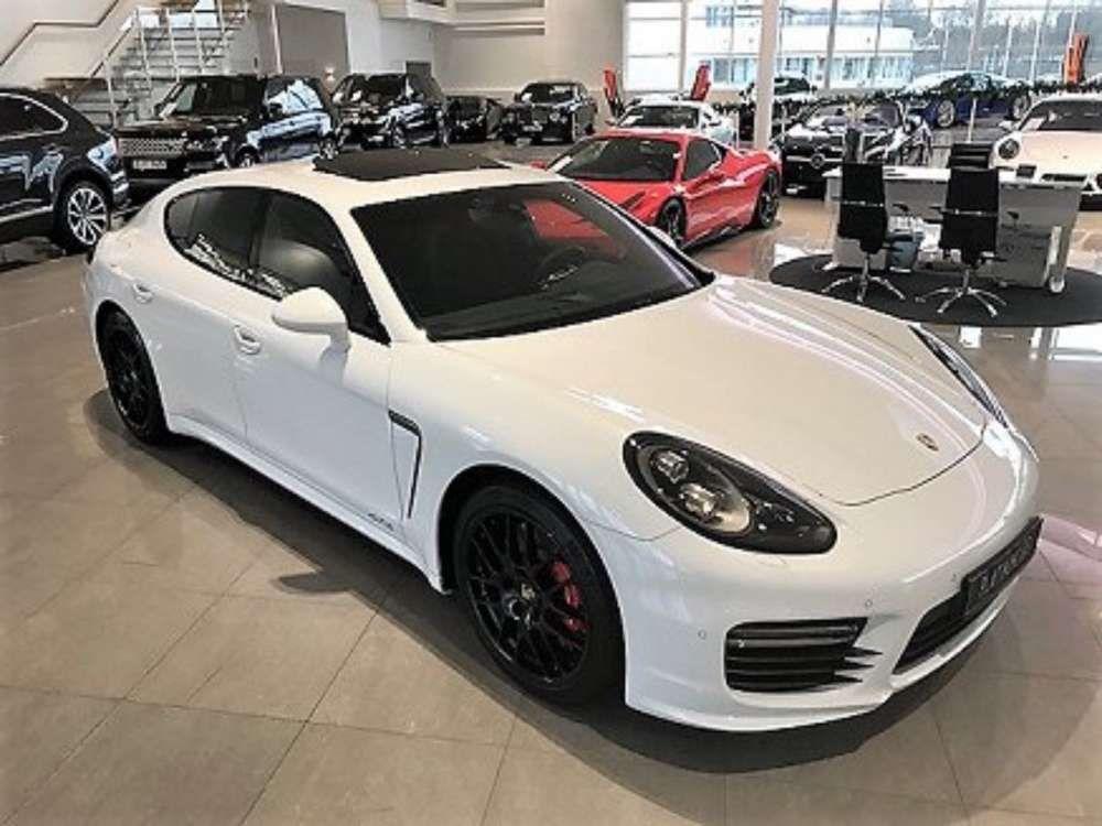 2016 Porsche Panamera GTS White Sedan Tags