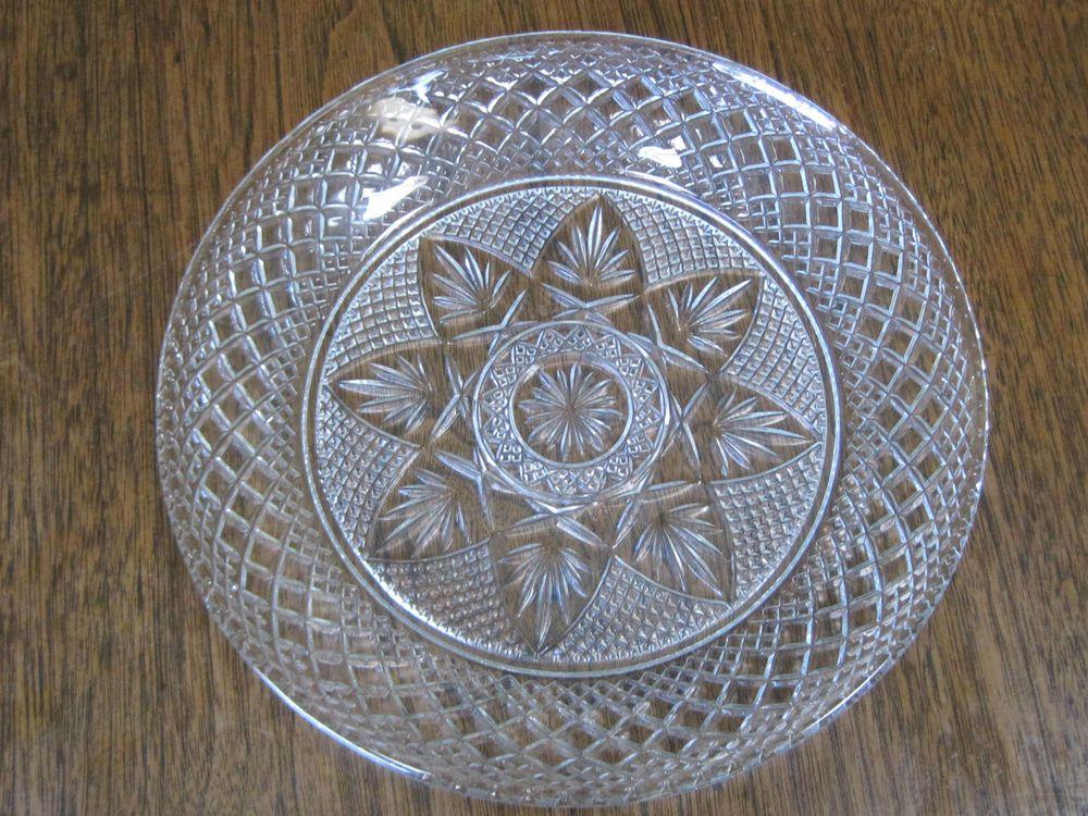 Vintage Cris D Arques Luminarc Patterned 8 Diameter Clear Glass Plate Usa 20 Clear Glass Plates Vintage Glassware Glass Dinnerware