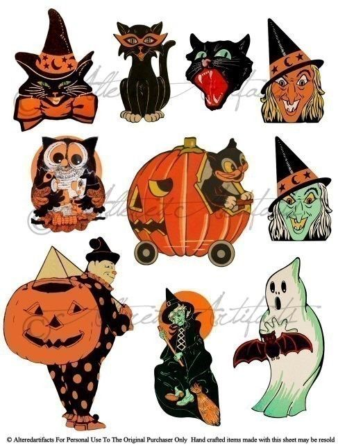 Retro Vintage Halloween Clip Art.Pin By Mary Bevard On Halloween In 2019 Retro Halloween Halloween