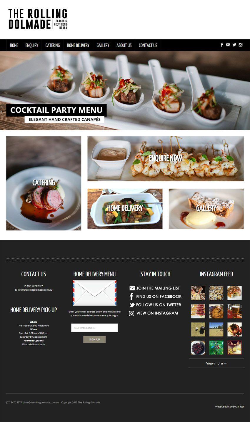 Website design for rolling dolmade catering in noosa qld australia website forumfinder Gallery