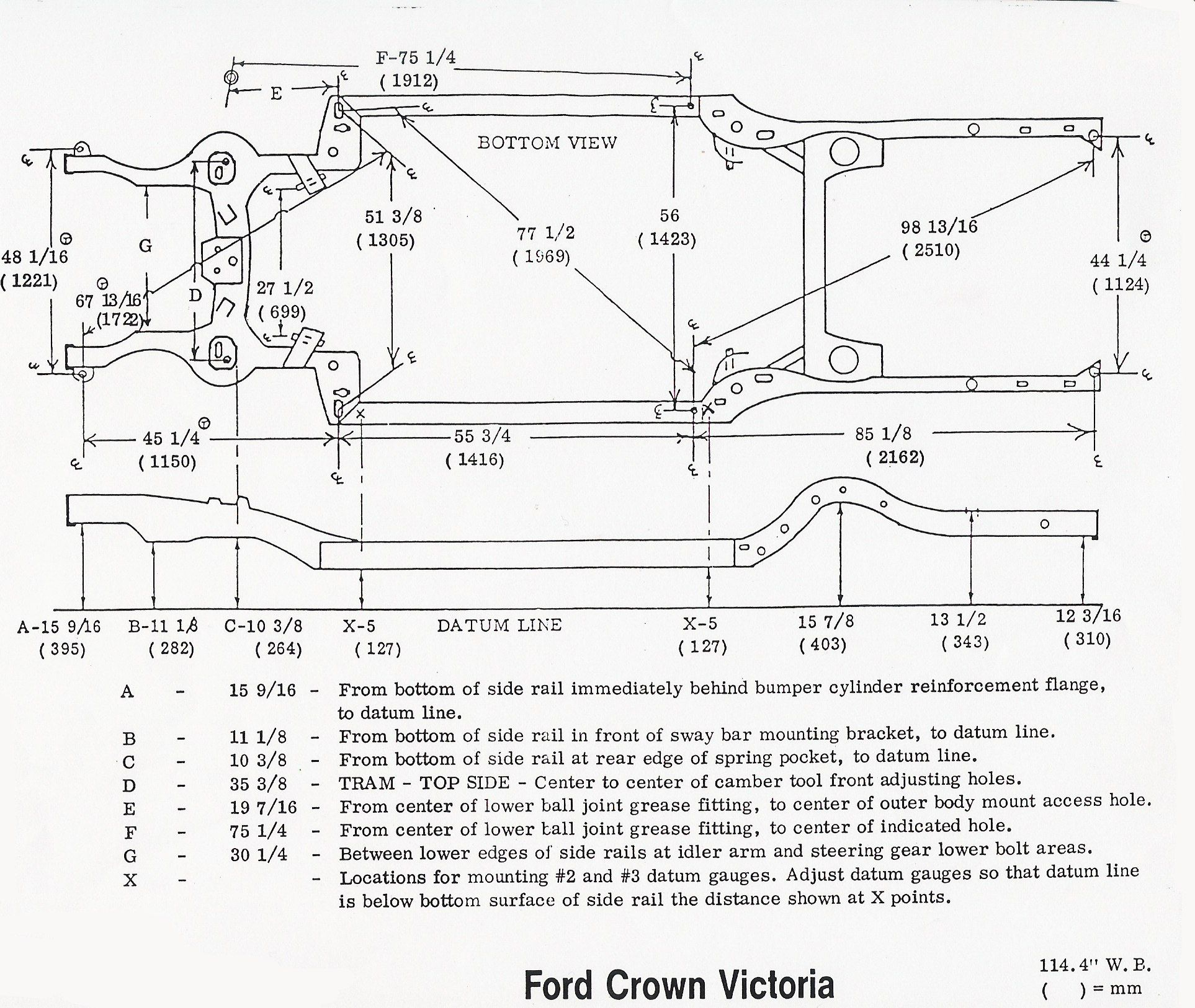 Ford Panther Chassis Frame Electric Car Conversion Crown