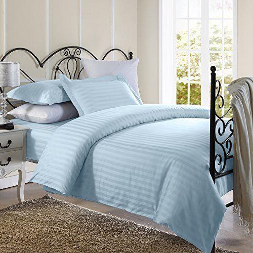 Ellington Home Modern 3 Piece Damask Stripe Microfiber Duvet Cover Bedding Set #EllingtonHome #Modern