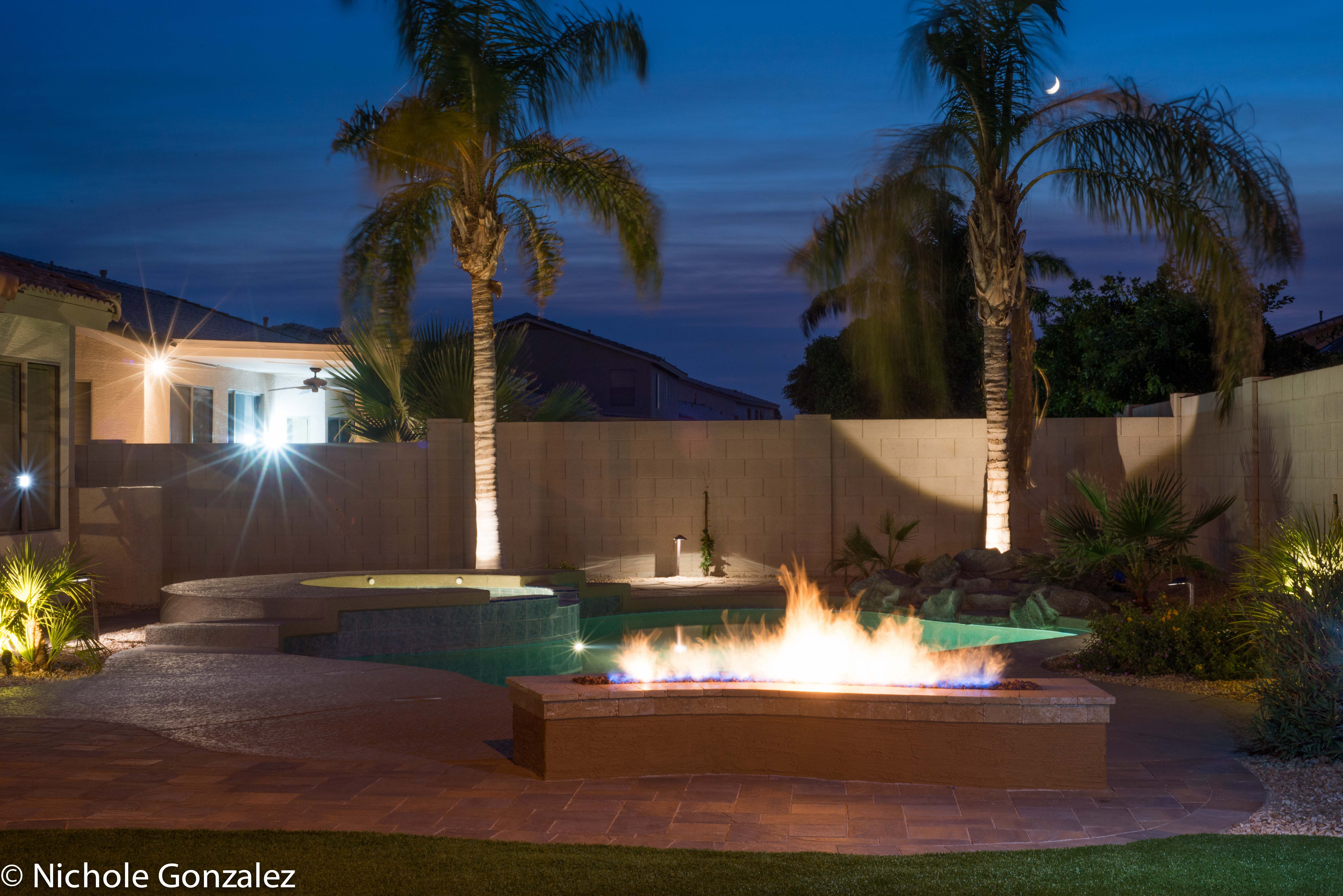 Final Fire Pit And Pool Deck From My 2015 Backyard Makeover