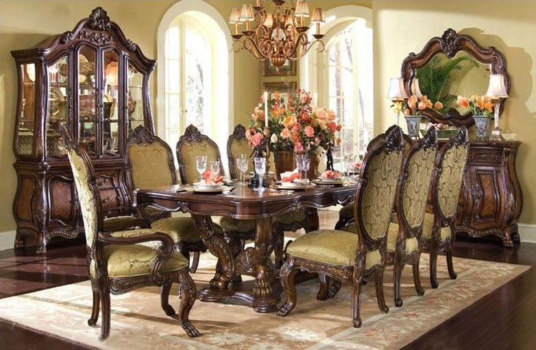 AICO Furniture - Chateau Beauvais 9 Piece Dining Table Set ...