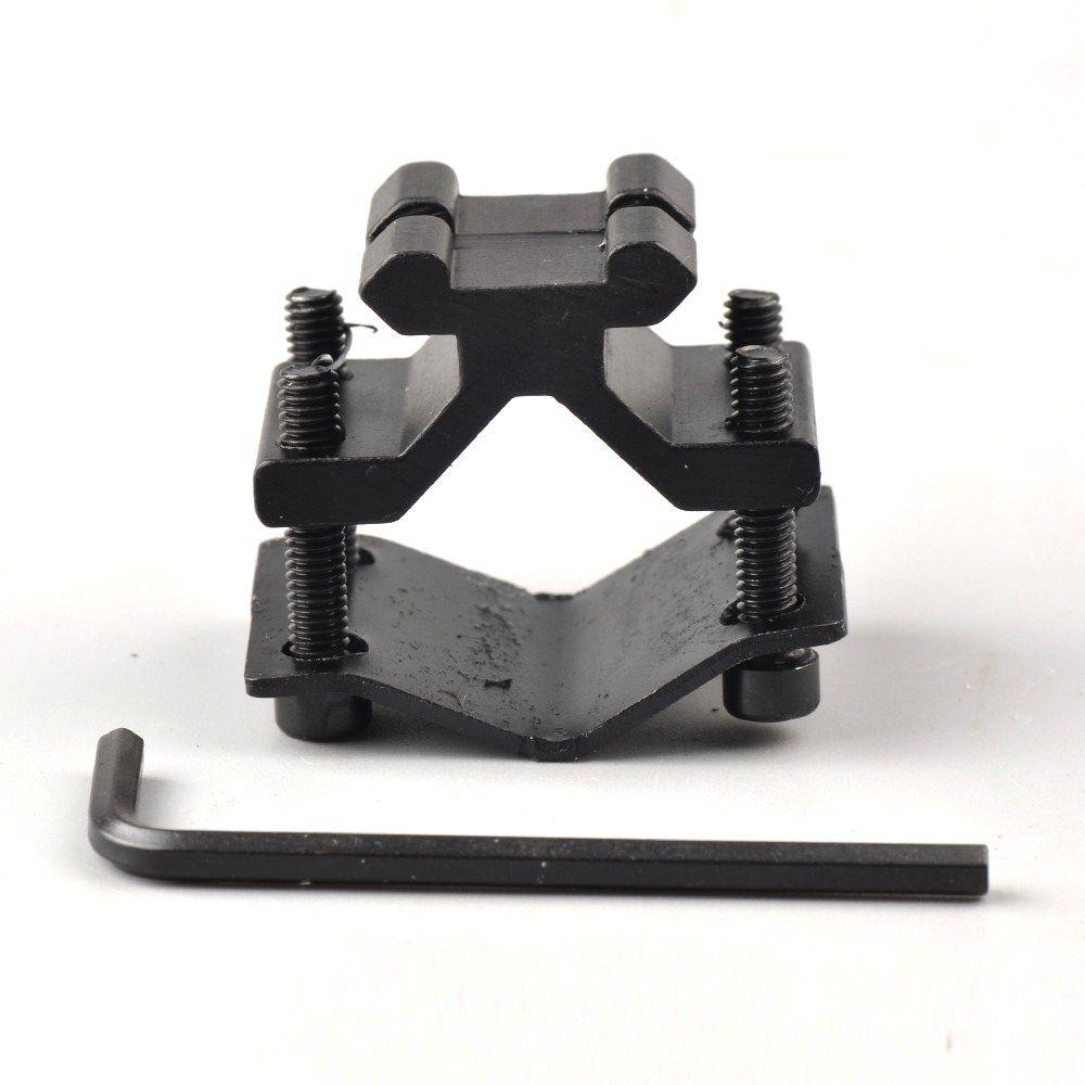 Shotgun Rifle Barrel Tactical Flashlight Laser Scope Clamp Mount Gun Adapter