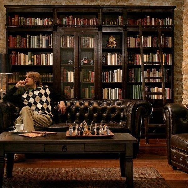 Bibliothek Massive Holzmöbel